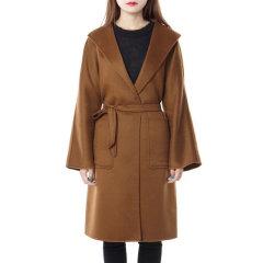 MaxMara/麦丝玛拉 19秋冬 羊绒束腰修身长款翻领时尚休闲外套女士大衣图片