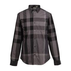 BURBERRY/博柏利 19秋冬 男士棉质经典格纹长袖衬衣衬衫图片