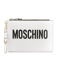 MOSCHINO/莫斯奇诺 【19春夏新款】女士皮质经典logo手拿包零钱包 多色可选图片