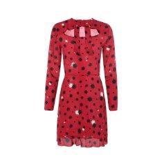 【19春夏新款】RedValentino/RedValentino规则印花图案装饰纯桑蚕丝材质女士连衣裙图片