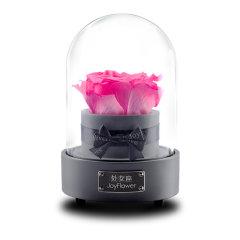 JoyFlower情人节进口永生花礼盒生日礼物十二星音乐星座玫瑰花-12种颜色定制图片