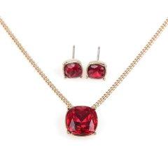 Givenchy纪梵希 女士方形单钻耳钉项链套装 60442013图片