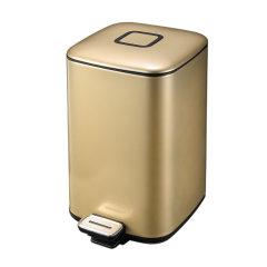 【赠垃圾袋一卷】EKO/宜可 6升不锈钢脚踏静音环境桶家用厨房卫生间卧室客厅静音垃圾桶图片