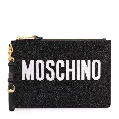 MOSCHINO/莫斯奇诺 【19春夏新款】女士其它牛皮经典logo标识拉链手拿包零钱包 多色可选图片