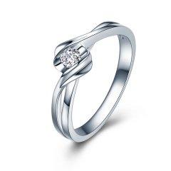 ZOCAI/佐卡伊 邂逅 白18K金钻石戒指结婚求婚钻戒婚戒图片
