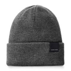 Canada Goose 加拿大鹅 男士黑色羊毛保暖针织帽图片