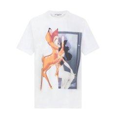 Givenchy/纪梵希  经典款女士纯棉圆领印花小鹿短袖T恤 (2色可选)BW700D304U-001图片