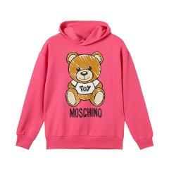 19春夏新品 MOSCHINO KIDS/MOSCHINO KIDS 女童灰色混纺小熊图案套头衫 HMF021 LDA00图片