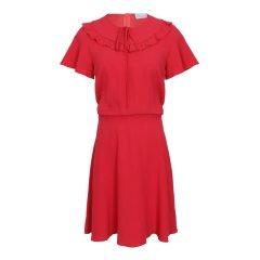 Red Valentino/Red Valentino  珊瑚红 红色 女士连衣裙QR3VA7E50 F1PA7图片