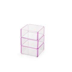 bencross本心本来 台湾生产亮粉色亚克力收纳盒化妆品盒首饰盒桌面收纳盒图片