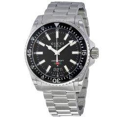 GUCCI/古驰 男表 Dive潜水系列 商务休闲 玻璃表镜 腕表 男手表 石英表 不锈钢手表 YA136301 / YA136204图片
