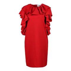 MSGM/MSGM女士聚酯纤维无袖百褶连衣裙 100140022BLK038图片
