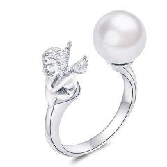 CIGA LONG JEWERY/CIGA LONG JEWERY陈意涵珍珠戒指原创设计明星同款天使纯银情侣送女友食指图片