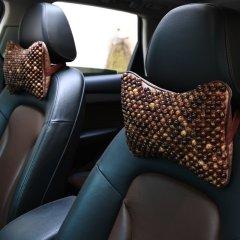natu  汽车新款夏季菩提子木珠头枕 汽车项枕头  头枕 枕头  对装图片
