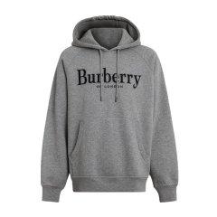BURBERRY/博柏利  18秋冬新款男士黑色绣标装饰平织连帽卫衣(2色可选)图片