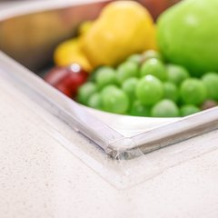 厨房水槽防水贴纸水池自粘防霉防潮美缝贴条卫生间浴室台面挡水条图片