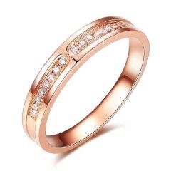 ZOCAI/佐卡伊 18k金玫瑰金色情侣对戒钻石戒指女男对戒钻戒婚戒图片