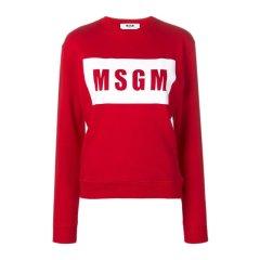 MSGM/MSGM 19春夏 女士纯棉字母LOGO长袖圆领上衣卫衣图片