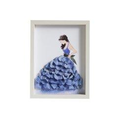 GELEISTORY她走在美的光彩中永生花艺术相框情人节礼物圣诞礼物图片