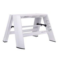 长谷川利快日本进口单层梯凳铝合金超轻折叠双侧防滑梯子(可放电脑)图片