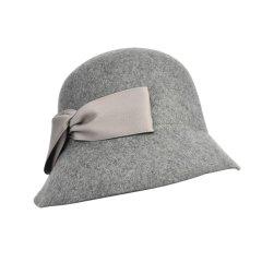 羊毛盆帽圆顶礼帽女英伦时尚复古大檐帽名媛优雅毛毡帽图片