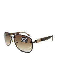MontBlanc/万宝龙 时尚休闲男款太阳镜 方圆形飞行员款金属板材墨镜眼镜 MB403S图片