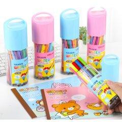【绘画套装】得力可水洗水彩笔 儿童绘画多色水彩笔+5本图画本图片