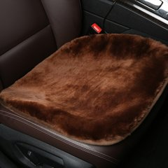 【奢品节可用券】pinganzhe 汽车新款进口冬季羊毛座垫 汽车羊毛单片坐垫  汽车前排单片小方垫 座垫前排单片-魅力红图片