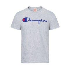 18秋冬 Champion/Champion 男士灰色混纺短袖T恤 210972 LOXGM图片