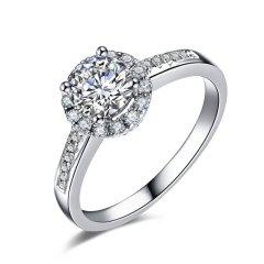 ZOCAI/佐卡伊 摩天轮 18k金显钻款钻戒女求婚结婚钻石戒指婚戒图片