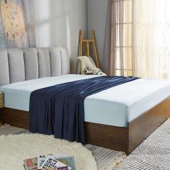 全棉 拼色床品增补三件套图片