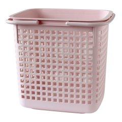 (新品)利快日本进口置物筐收纳篮镂空带盖双把手彩色洗衣篮脏衣篮浴室玩具小件收纳盒食物提篮户内外适使用 多用途 大号图片