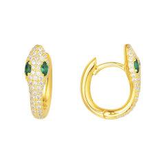 APM Monaco/APM Monaco金黄色 银色 S925银蛇形耳环 时尚个性耳饰 一对  AE10184XGY AE10184XKG图片