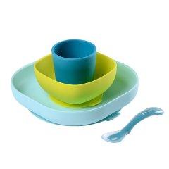 BEABA 婴儿辅食碗 硅胶吸盘碗勺套装 宝宝餐盘 儿童防摔餐具图片