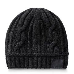 Canada Goose 加拿大鹅 女士黑色羊毛保暖针织帽图片