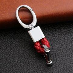 pinganzhe 奔驰/宝马/奥迪/路虎 等 专用汽车新款带车标钥匙扣 羊皮革编织钥匙链 钥匙圈锁匙环 男士女士 创意汽车用品图片