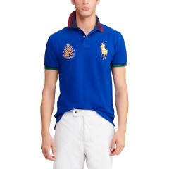 Polo Ralph Lauren/拉夫劳伦马球 19新款男士 时尚休闲 大马标修身瘦版网面材质短袖PoloT恤 468763图片