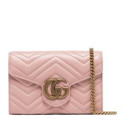 GUCCI/古驰  19春夏 GG Marmont系列 女士牛皮双G标识时尚链条单肩斜挎包图片