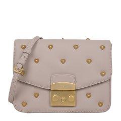Furla 芙拉 19春夏 女士皮革磁扣铆钉装饰链条包单肩斜挎包图片