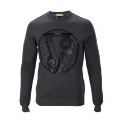 VERSACEJEANS/范思哲牛仔混合材质涂层装饰男士针织衫/毛衣图片