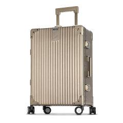LIEMOCH/利马赫爱勒系列全铝镁合金20寸登机箱男士行李箱拉杆箱女密码箱子中性款式旅行箱银色图片
