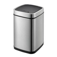 【赠垃圾袋一卷】EKO/宜可 6升感应垃圾桶家用厨房智能欧式创意客厅卧室卫生间不锈钢筒图片