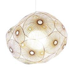 sozen 素生 豆 新竹编美学 传统手工艺细竹丝精品编织 客厅餐厅吊灯图片