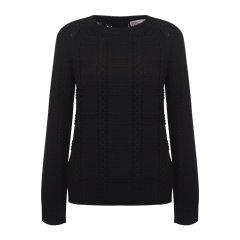 REDValentino/REDValentino    背部蝴蝶结拉链羊毛女士针织衫/毛衣 DR3KC1A1 3 VN ONO图片