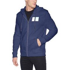 【秋冬款】Calvin Klein/卡尔文·克莱因  男士开衫连帽卫衣秋季外套 41BK745灰色 XXL图片