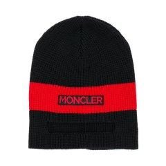 MONCLER KIDS/蒙克莱 儿童红色黑色接拼羊毛帽子 9920800 969BZ 999图片