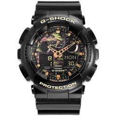 CASIO/卡西欧  G-SHOCK系列 GA-100系列迷彩大表盘双显运动男士手表图片