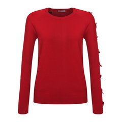Red Valentino/Red Valentino    蝴蝶结针织圆领上衣女士针织衫/毛衣  DR3KC1D0 3VY C61图片