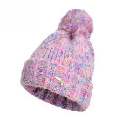 毛球帽子彩点针织帽女冬韩版百搭可爱学生毛线帽翻檐保暖冷帽图片