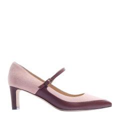 73hours/73hours 沈小姐 女士麂皮拼羊皮尖头中跟鞋粗跟单鞋图片